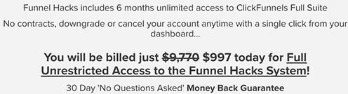 Funnel Hacking Secrets Pricing